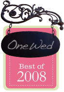 OneWed Best of 2008 Award Winner